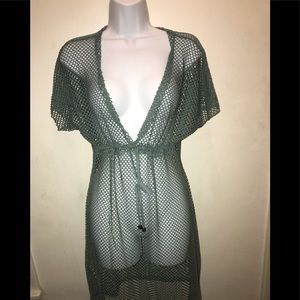 Other - Olive Green NWT Net Coverup XXL